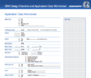 OEM Design Checklist & Application Data Worksheet