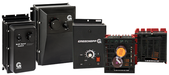 Groschopp offers controls for AC Induction and Brushless DC motors