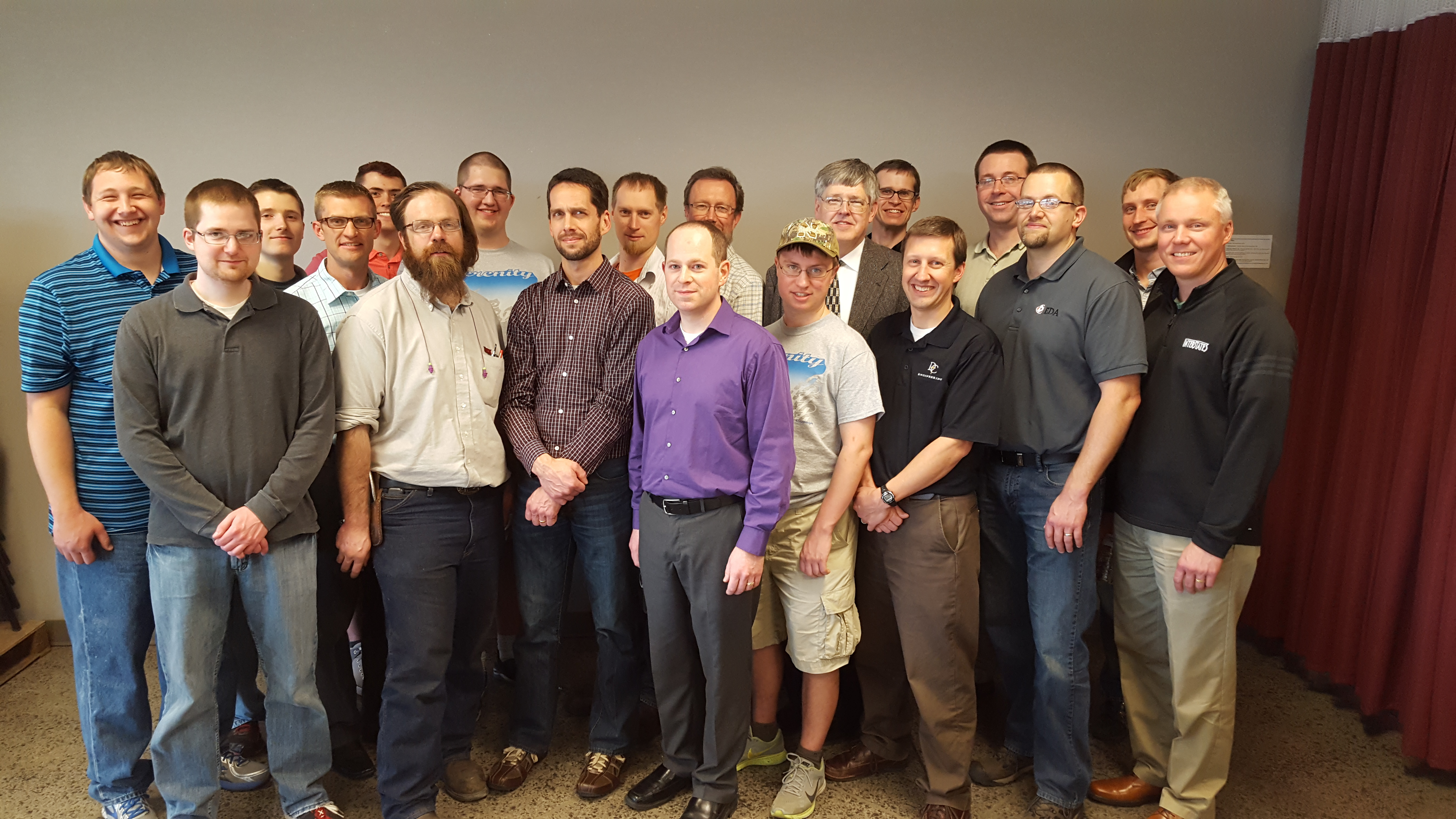 Engineers from Dordt College visit the Groschopp facility.