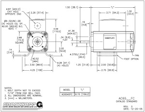 the importance of motor outline prints groschopp rh groschopp com Century Motor Wiring Diagram Motor Control Wiring Diagrams