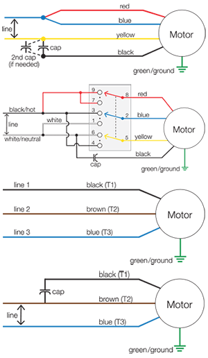 Motor Wiring Diagrams | Groschopp